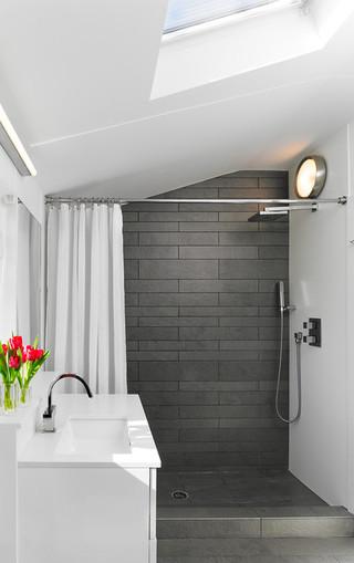 现代简约风格厨房复式客厅装饰140平米以上整体卫浴效果图