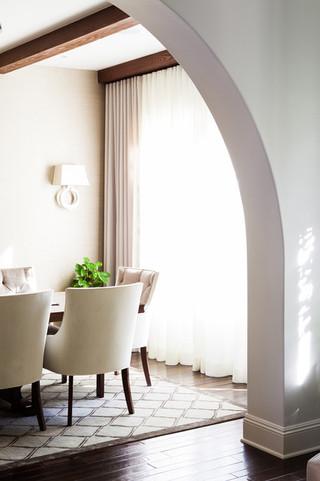 现代欧式风格富裕型140平米以上室内客厅隔断装修图片
