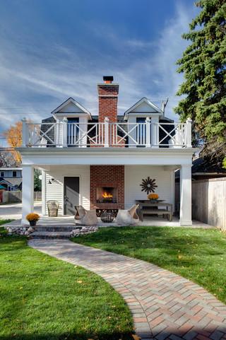 混搭风格富裕型140平米以上庭院围墙装潢