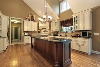 欧式风格家具富裕型140平米以上整体厨房颜色装修效果图