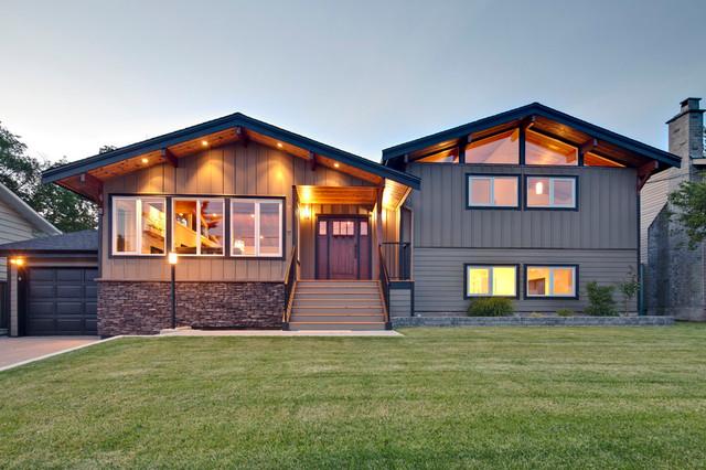 现代田园风格富裕型140平米以上庭院围墙改造