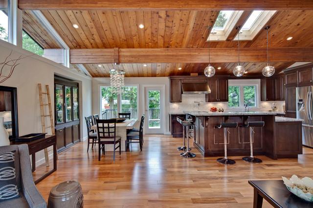 现代田园风格富裕型140平米以上客厅过道吊顶设计图纸