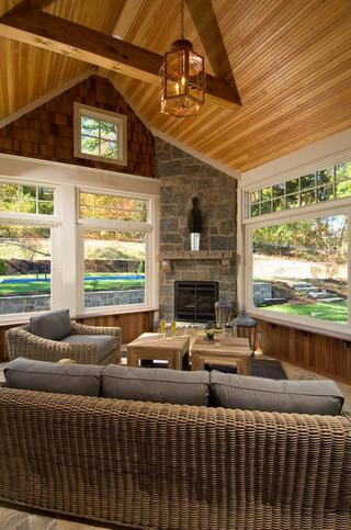 宜家风格小型公寓原木色家居15-20万130平米家庭装修效果图