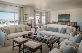 中式简约风格loft公寓白色门120平米装修效果图
