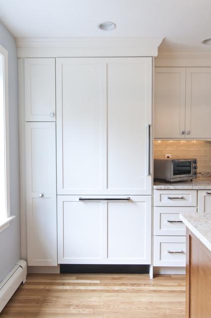 现代简约风格餐厅三层独栋别墅白色家具富裕型设计图纸