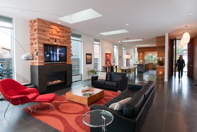 现代简约风格复式小户型豪华型12平米客厅装修效果图