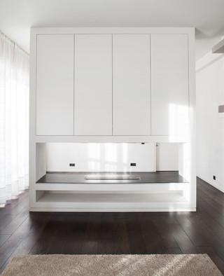 现代简约风格卫生间富裕型140平米以上主卧室衣柜设计图