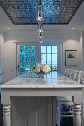 房间欧式风格3层别墅白色室内豪华型家用吧台效果图