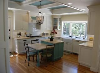 美式风格客厅300平别墅唯美2014家装厨房效果图