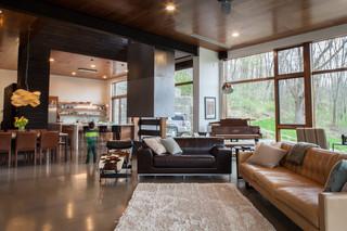 现代简约风格小型公寓 客厅设计师的家