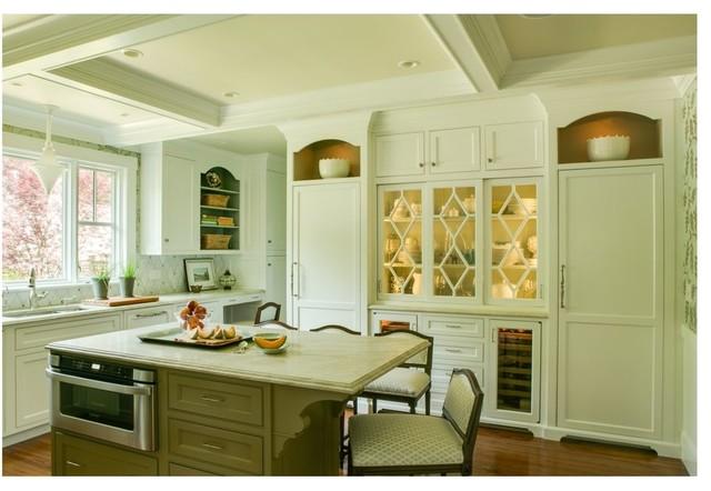 田园风格窗帘一层别墅白色简欧风格豪华型效果图