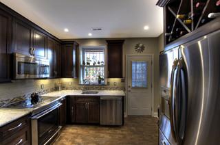 欧式风格富裕型140平米以上整体厨房颜色设计图纸