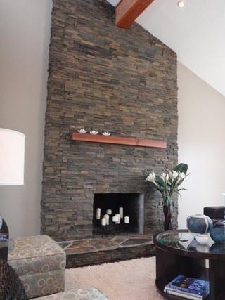 简约风格电视背景墙富裕型140平米以上壁炉效果图