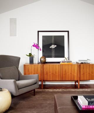 北欧风格二居室浪漫婚房布置小客厅电视背景墙效果图