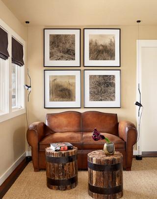 现代北欧风格二居室浪漫卧室沙发背景墙装修效果图