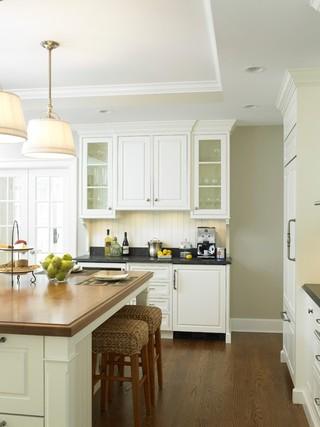 简洁白色橱柜2014家装厨房玄关柜效果图
