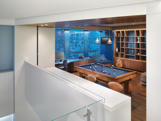 现代简约风格卧室白领公寓时尚片酒柜吧台设计