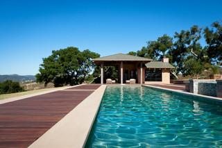 现代北欧风格度假别墅浪漫卧室别墅游泳池设计图