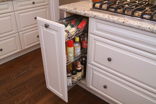 实用白色家具开放式厨房餐厅橱柜设计
