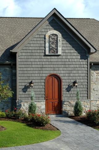 地中海风格家具新古典冷色调进门入户花园装修图片