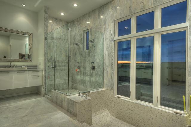 现代简约风格浪漫卧室冷色调1m卫生间装修效果图