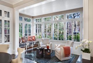 现代简约风格卧室美式别墅时尚家居露台阳光房装修