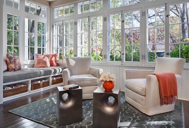 现代简约风格卫生间美式别墅现代时尚露台阳光房装修效果图高清图片