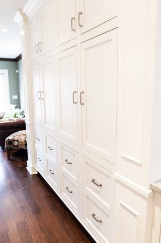 现代简约风格餐厅时尚家具白色整体衣柜设计图效果图