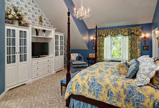 地中海风格卧室装修欣赏 让人宁静的海蓝色