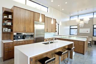 现代简洁白色欧式家具厨房吧台餐厅灯饰效果图