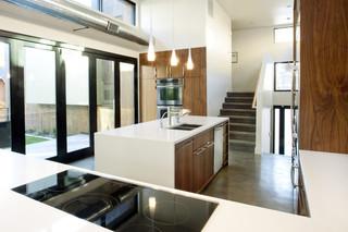 简约时尚白色地毯厨房玄关装潢