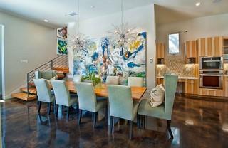 现代简约风格卧室时尚衣柜冷色调家庭餐桌效果图