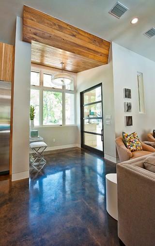 现代简约风格时尚卧室装饰冷色调客厅玄关隔断设计图