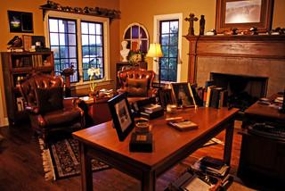 美式风格客厅三室一厅简装豪华室内经济型卧室书桌效果图
