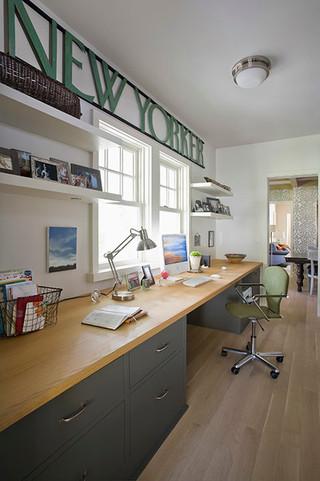 混搭风格客厅时尚简约富裕型工作区装修图片