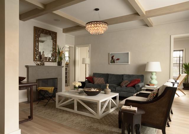 混搭风格客厅时尚家居装饰富裕型小客厅沙发装修