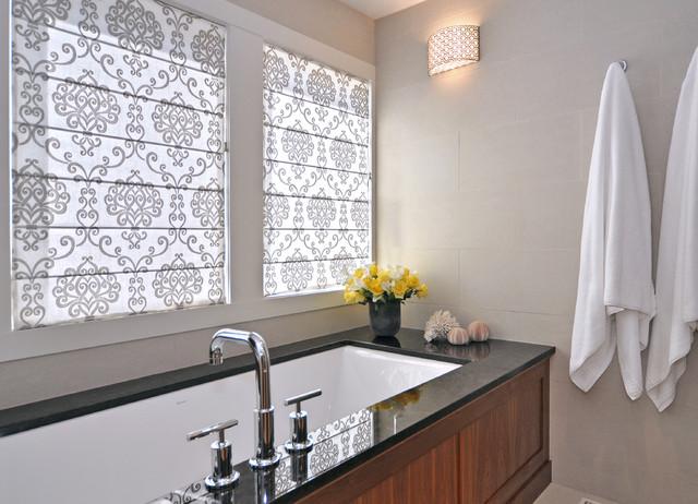 混搭风格客厅豪华别墅嵌入式浴缸效果图