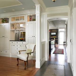 美式风格浪漫婚房布置豪华型客厅过道吊顶设计