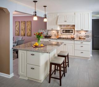 地中海风格家具浪漫婚房布置米色实木餐桌效果图