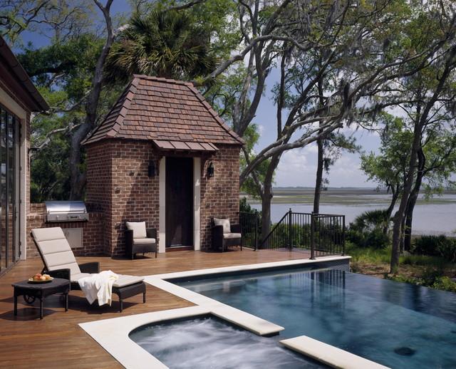 美式乡村风格卧室新古典室内游泳池设计