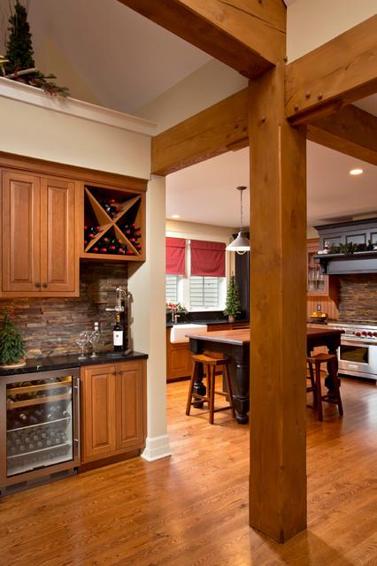 美式乡村风格卧室三层连体别墅室内花园效果图