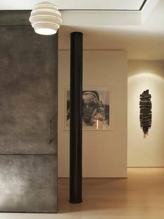 现代简约风格卧室三层连体别墅温馨工作区客厅过道吊顶装修图片
