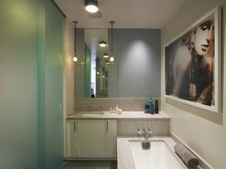 现代简约风格2013别墅工作区客厅过道设计图纸