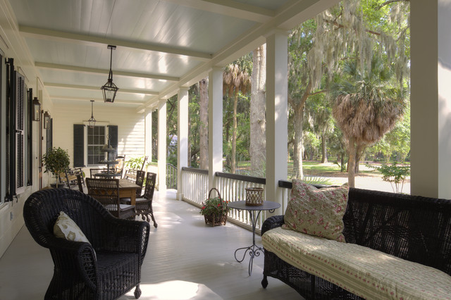美式乡村风格一层半别墅入门花园效果图