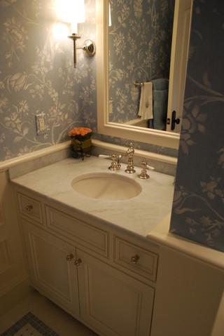 美式乡村风格卧室公寓家庭吧台隔断洗手台效果图