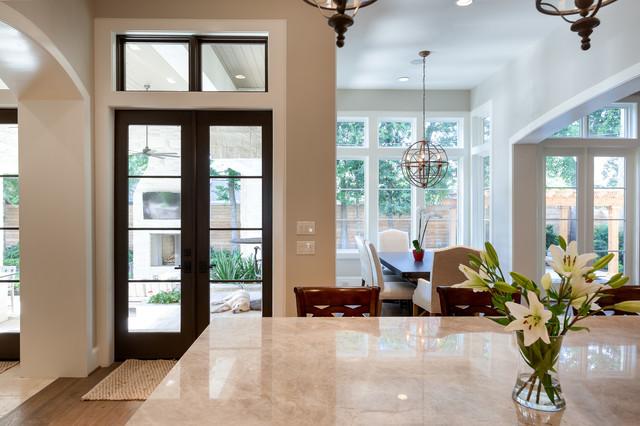 美式风格卧室暖色调豪华型客厅过道吊顶效果图
