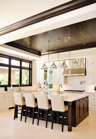 现代东南亚风格三层连体别墅豪华型底楼阳光房改造