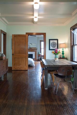 东南亚风格卧室经济型140平米以上客厅过道装修图片