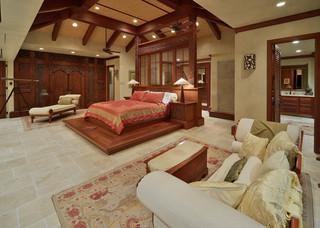 地中海风格卧室三层双拼别墅白色欧式楼顶花园海外家居