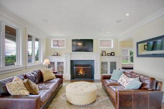 美式风格客厅复式公寓白色门2013年电视背景墙效果图